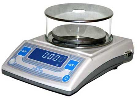 Лабораторные весы высокого II класса точности, встроенная юстировочная гиря, d= 1 мг