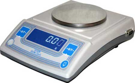 Лабораторные весы высокого II класса точности, встроенная юстировочная гиря, d= 10 мг