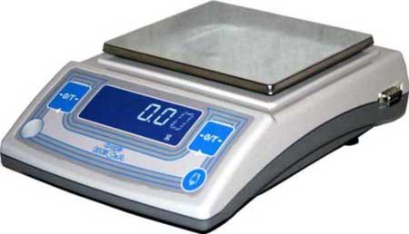 Лабораторные весы высокого II класса точности, встроенная юстировочная гиря, d= 10, 100 мг